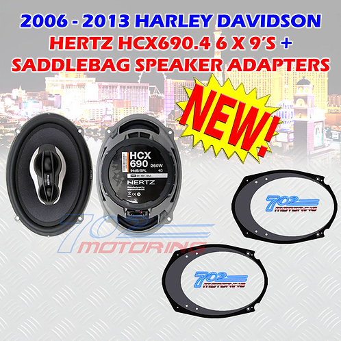 HARLEY TOURING HERTZ HCX690.4 5X7- 6X9 BOOM AUDIO SPEAKER ADAPTERS VT5769 STYLE