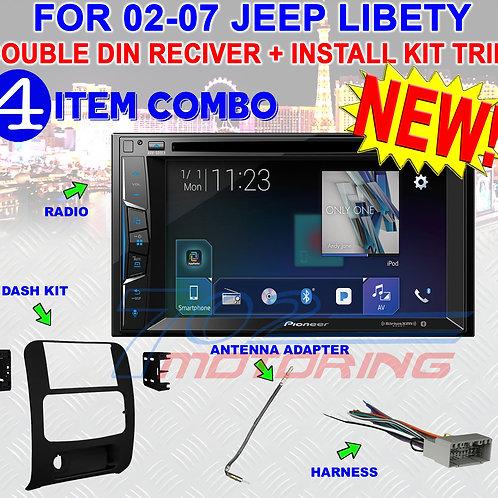02-07 LIBERTY PIONEER BLUETOOTH USB DVD CAR RADIO STEREO OPTIONAL SIRIUSXM NEW!