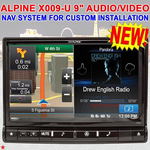 "ALPINE X009-U 9"" AUDIO / VIDEO NAVIGATION SYSTEM FOR CUSTOM INSTALL APPLICATIONS"