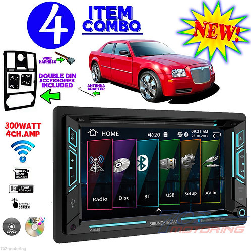 "05-07 CHRYSLER 300/300C VR-63B 6.2"" TOUCHSCREEN CD DVD BLUETOOTH USB CAR RADIO"