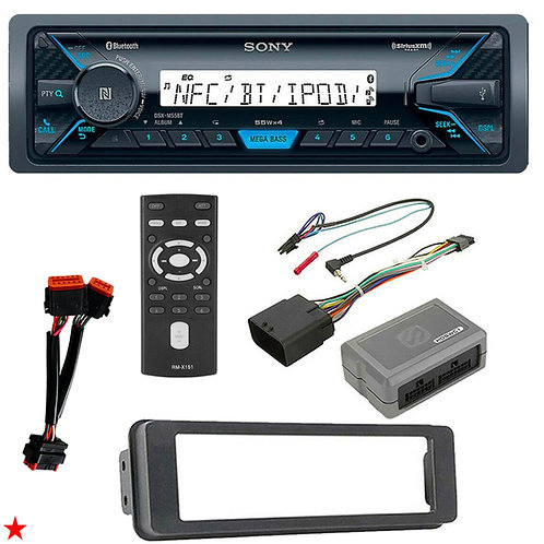 MARINE BLUETOOTH FOR 96-97 HARLEY TOURING STEREO RADIO INSTALL ADAPTER DASH KIT