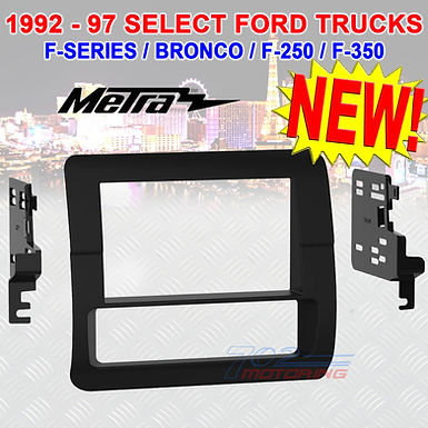DOUBLE DIN INSTALL KIT FOR 1992-97 FORD F-SERIES TRUCKS / BRONCO / F-250 / F-350