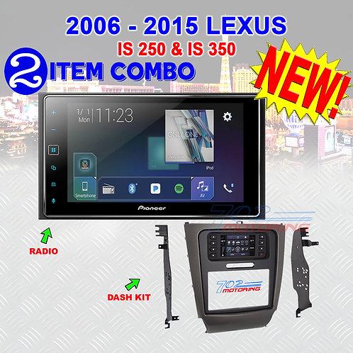 """06-15 """"IS"""" SERIES LEXUS - AVH-1300NEX + METRA 99-8163"""