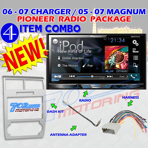 05-07 DODGE MAGNUM / CHARGER AVH-X4700BS + 99-6519S + HARNESS + ANTENNA ADAPTER