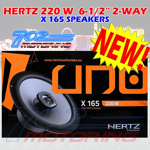 "HERTZ X 165 CAR 6.5"" AUDIO 220W TWO-WAY PEI DOME TWEETERS COAXIAL SPEAKERS NEW"