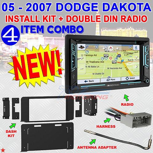 METRA 95-6557B DOUBLE DIN INSTALL KIT 05 - 07 DODGE DAKOTA SOUNDSTREAM VRN-63HB