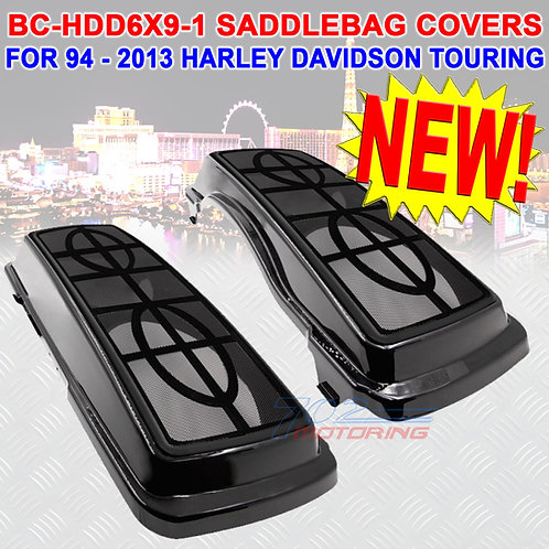 METRA BC-HDD6X9-1 SADDLEBAG LIDS FOR HARLEY DAVIDSON TOURING MODELS 94-2013 NEW