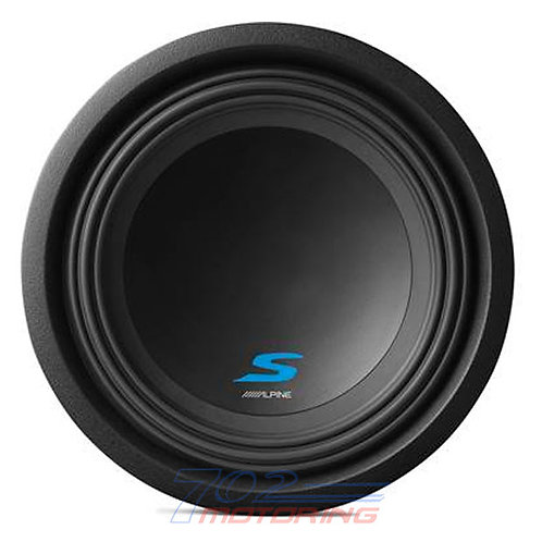 "ALPINE S-W10D4 S-SERIES 10"" SUBWOOFER WITH DUAL 4-ohm VOICE COILS"