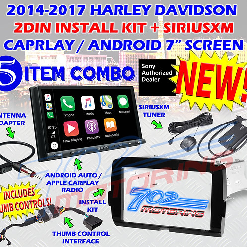 SONY XAV-AX5000 2014 - 20 HARLEY DAVIDSON DOUBLE DIN RADIO KIT SIRIUSXM INCLUDED