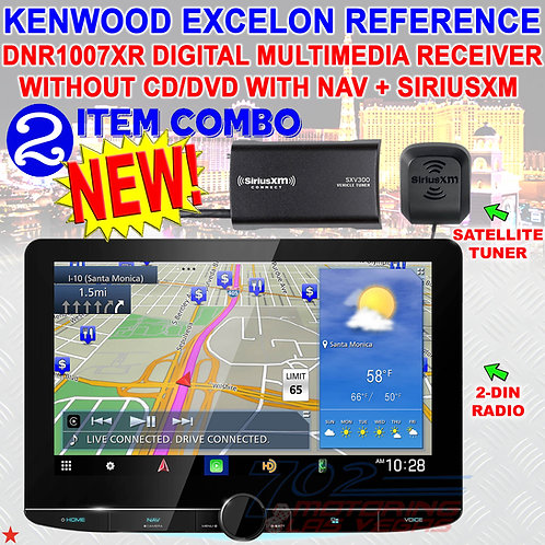 KENWOOD EXCELON REFERENCE DNR1007XR DIGITAL MULTIMEDIA RECEIVER W/NAV & SIRIUSXM