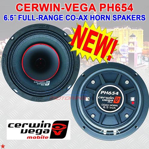 """CERWIN VEGA PH654 6-1/2"""" FULL-RANGE CO-AX HORN SPEAKERS FOR HARLEY DAVIDSON NEW!"""