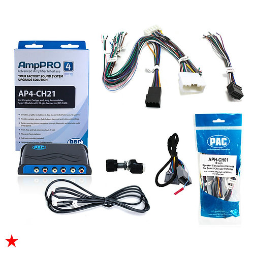 PAC ADVANCED AMPLIFIER INTEGRATION INTERFACE & SPEAKER HARNESS FOR DODGE JEEP