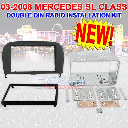2003 - 2008 MERCEDES BENZ SL CLASS DOUBLE DIN CAR STEREO INSTALLATION DASH KIT