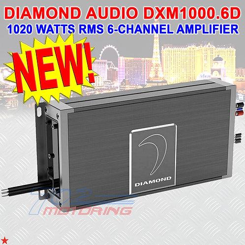 DIAMOND AUDIO® DXM1000.6D 1020W RMS 6-CHANNEL COMPACT WATER-RESISTANT AMPLIFIER