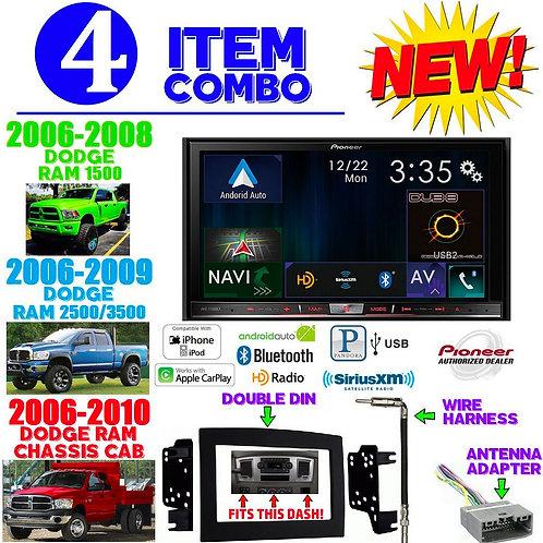 06-10 DODGE RAM AVIC-7100NEX + 95-6528B + HARNESS + ANTENNA ADAPTER