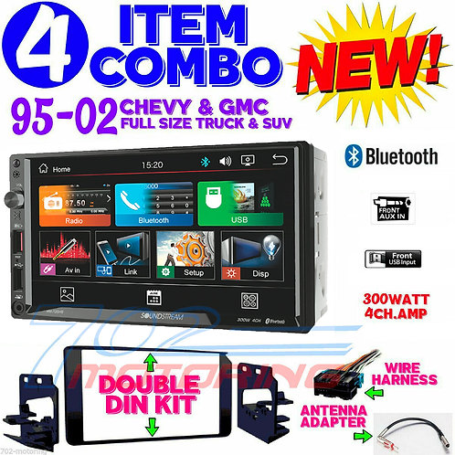 95-2002 GM TRUCK / SUV SCREEN BLUETOOTH DOUBLE DIN CAR STEREO RADIO VM-700HB NEW