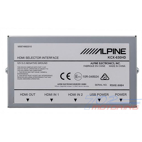 ALPINE KCX-630HD HDMI SWITCHER FOR ALPINE DIGITAL MEDIA & RESTYLE NAV RECEIVERS