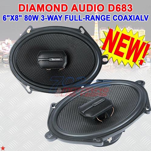 "DIAMOND AUDIO® D683 6""x8"" D-SERIES 3-WAY COAXIAL CAR SPEAKERS SPEAKER PAIR NEW!"