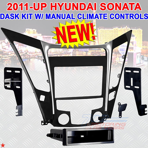 2011-UP HYUNDA SONATA RADIO STEREO DASH INSTALL MOUNTING TRIM BEZEL PANEL KIT