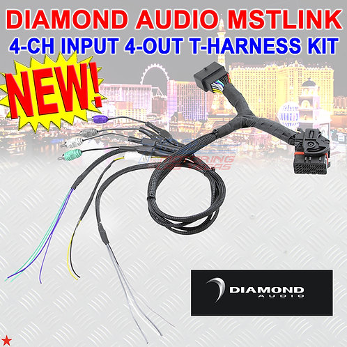 DIAMOND AUDIO MSTLINK MOTORSPORT 4-CH. INPUT WITH LOAD RESISTOR 4-OUT T-HARNESS