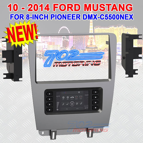 10-2014 FORD MUSTANG BEZEL 108-FD4CH (DESIGNED FOR PIONEER 8-INCH DMH-C5500NEX)