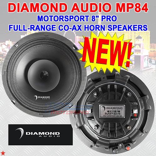 "DIAMOND AUDIO MP84 MOTORSPORT SERIES 8"" PRO FULL-RANGE CO-AX HORN SPEAKERS NEW!"