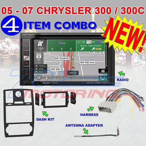 05-07 CHRYSLER 300/300C AVIC-6200NEX DOUBLE DIN NAVIGATION BLUETOOTH BT