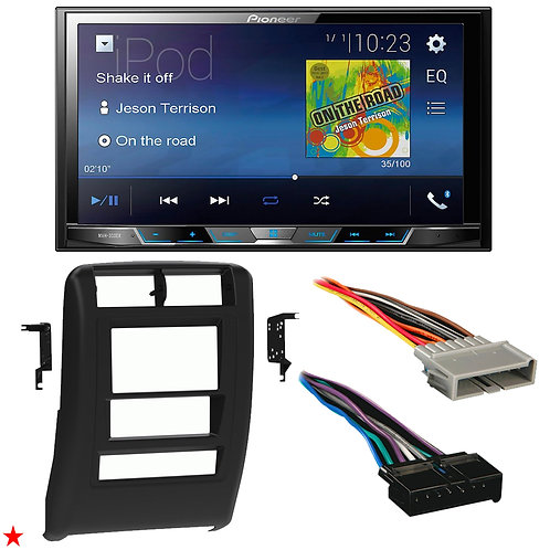 "1997 - 2001 JEEP CHEROKEE DOUBLE DIN CAR STEREO INSTALLATION DASH KIT BEZEL ""45"""