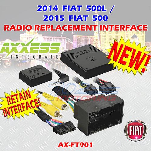 AXXESS AX-FT901 FIAT 500 2015 / 500L 2014 (W/U-Connect) SWC& DISPLAY RETENTION