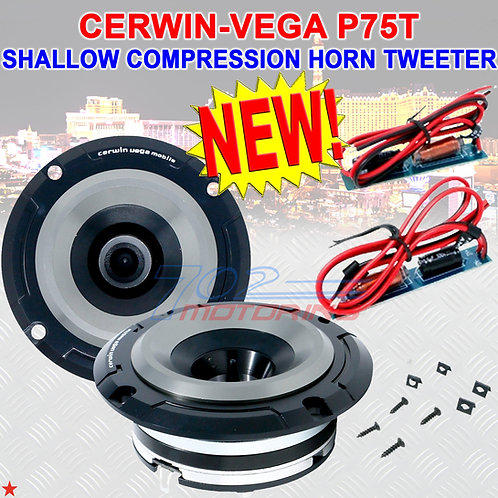 "CERWIN-VEGA P75T 150W MAX SHALLOW PRO STYLE 1"" TITANIUM COMPRESSION HORN TWEETER"