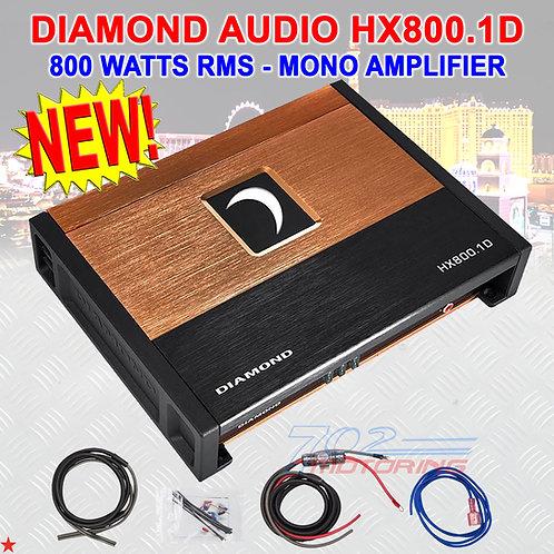 DIAMOND AUDIO® HX800.1D HEX-SERIES 800 W RMS MONOBLOCK CLASS-D AMPLIFIER AMP NEW