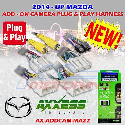 AXXESS AX-ADDCAM-MAZ2 ADD-ON CAMERA PLUG-N-PLAY HARNESS 2014 UP SELECT MAZDA