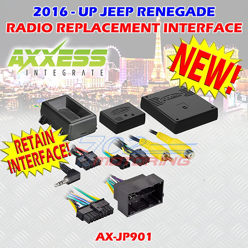 2015 METRA AX-JP901 JEEP RENEGADE DATA INTERFACE WITH SWC & DISPLAY RETENTION