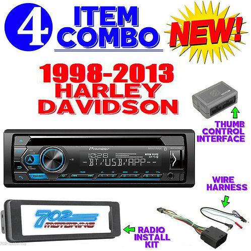 HARLEY PLUG & PLAY TOURING PIONEER DEH-S4220BT RADIO STEREO ADAPTER KIT HDK001X