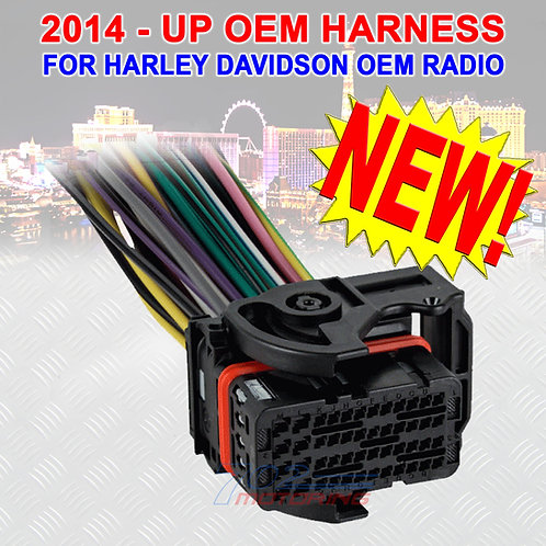 2014 - UP OEM REPLACEMENT HARNESS FOR TOURING HARLEY DAVIDSON COLOR CODED LEADS