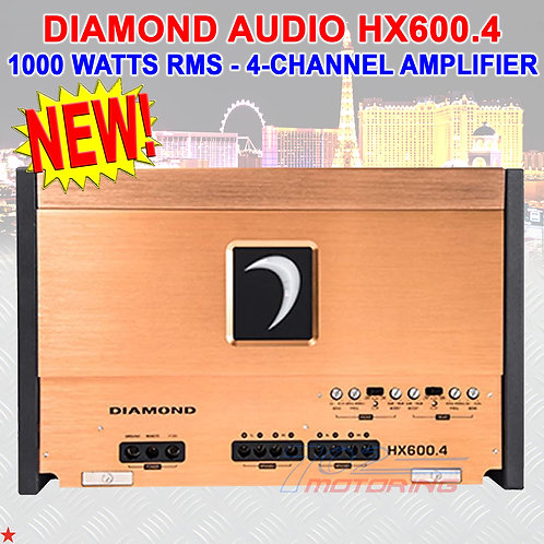 DIAMOND AUDIO® HX600.4 HEX-SERIES 1000 W RMS 4-CHANNEL CLASS-D AMPLIFIER AMP NEW