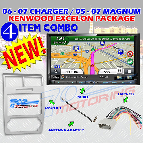 05-07 DODGE MAGNUM / CHARGER DNX772BH + 99-6519S + HARNESS + ANTENNA ADA