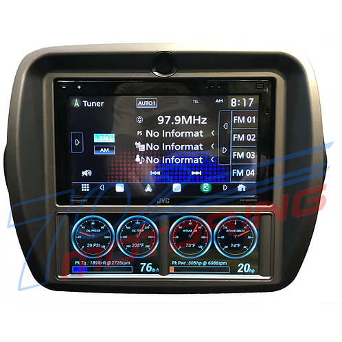 SCOSCHE ITCGM01AB DOUBLE DIN DASH KIT FOR 2010-2014 CHEVROLET CAMARO GAUGE DISP