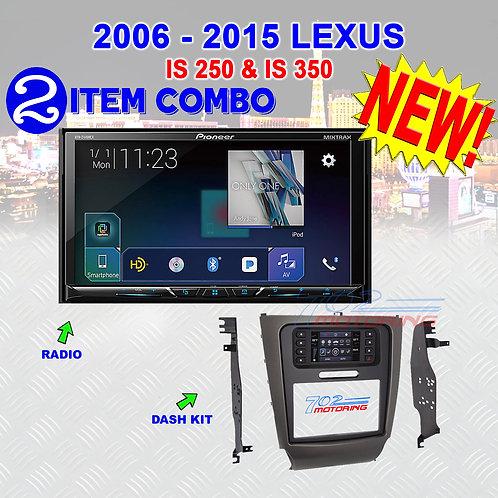 """06-15 """"IS"""" SERIES LEXUS - AVH-2440NEX + METRA 99-8163"""