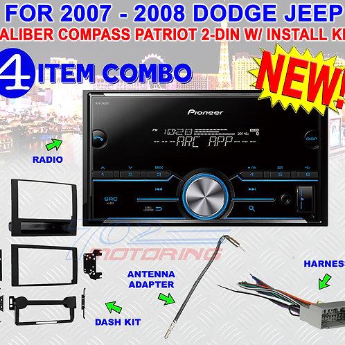 07 08 COMPASS CALIBER PATRIOT PIONEER USB MP3 BLUETOOTH CAR STEREO RADIO PKG