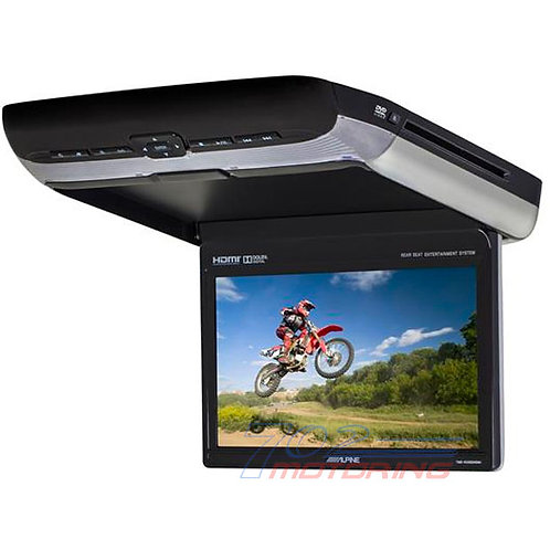 "ALPINE PKG-RSE3HDMI 10.1"" OVERHEAD VIDEO MONITOR BUILT-IN DVD AND 2 HDMI INPUTS"