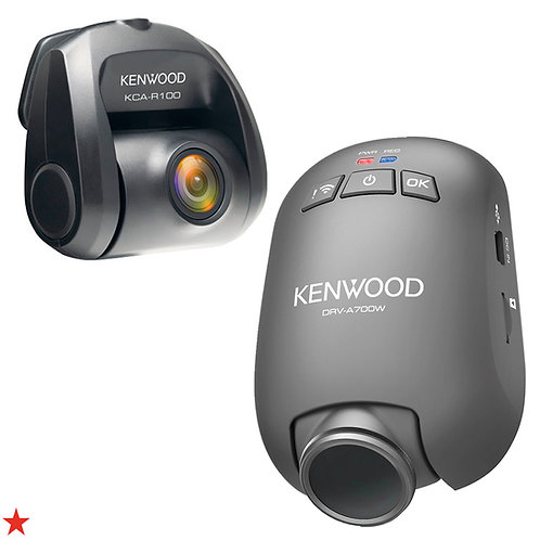 KENWOOD DRV-A700WDP COMPACT HD DUAL DASHBOARD CAMERA SYSTEM WITH WI-FI AND GPS