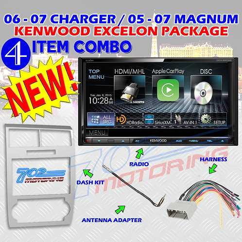 05-07 DODGE MAGNUM / CHARGER DDX9902S + 99-6519S + HARNESS + ANTENNA ADAPTER