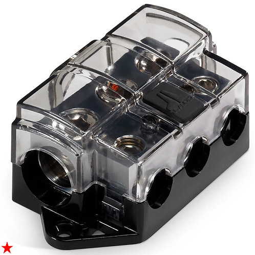 JL AUDIO XD-PDBU-3X CAR DISTRIBUTION BLOCK 1/0/2/4 AWG GAUGE IN THREE 4/8 OUT