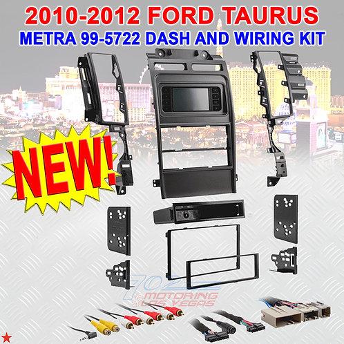 METRA 99-5722 / *NEW* CAR RADIO DASH KIT / 2010-2012 FORD TAURUS / SDIN OR D-DIN