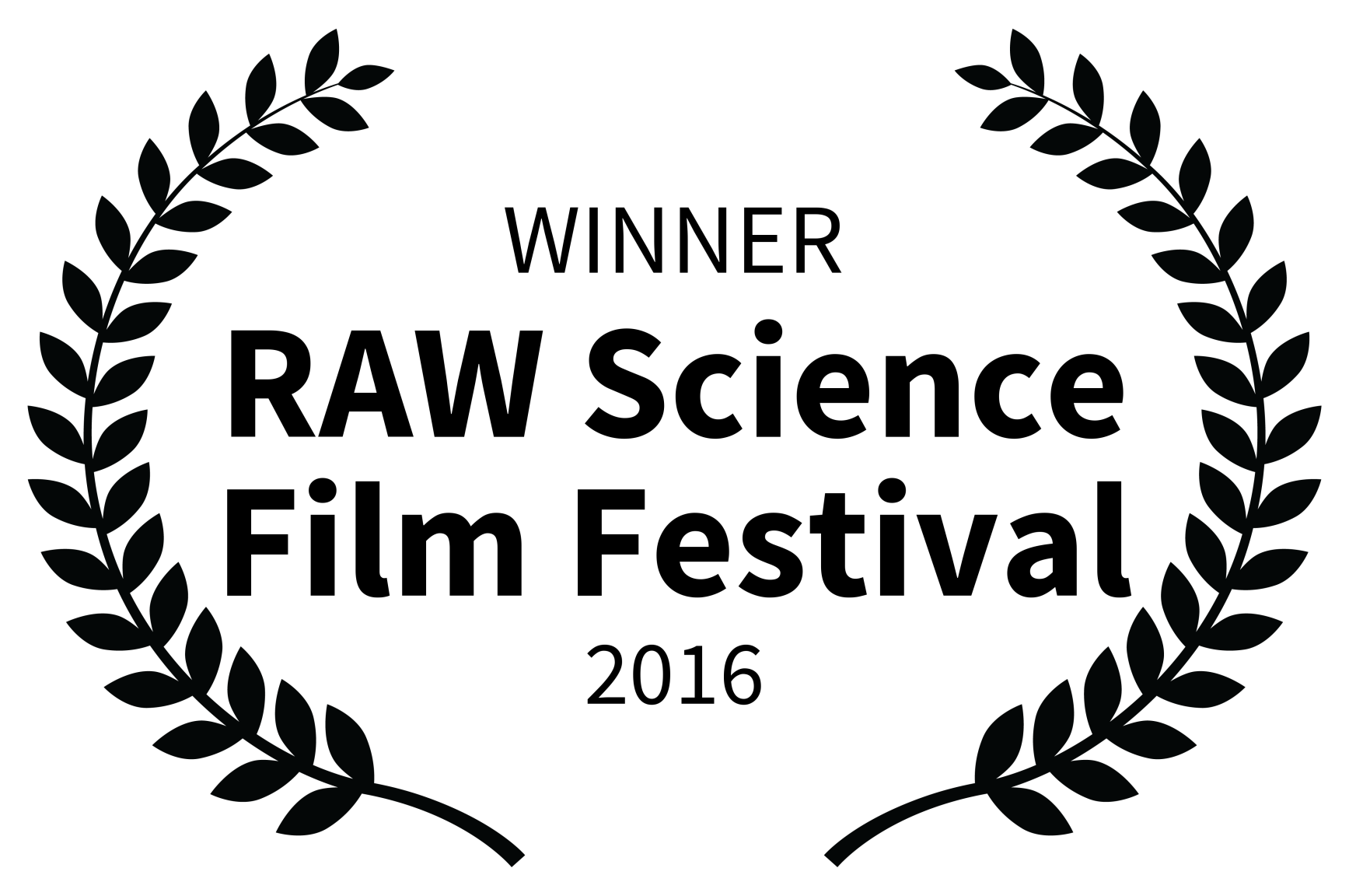 WINNER - RAW Science Film Festival - 201