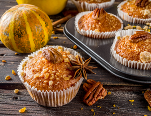 Maple Glazed Pumpkin Muffins + Crunchy Crumble