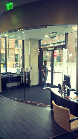 Alpine Bank Curved Doors