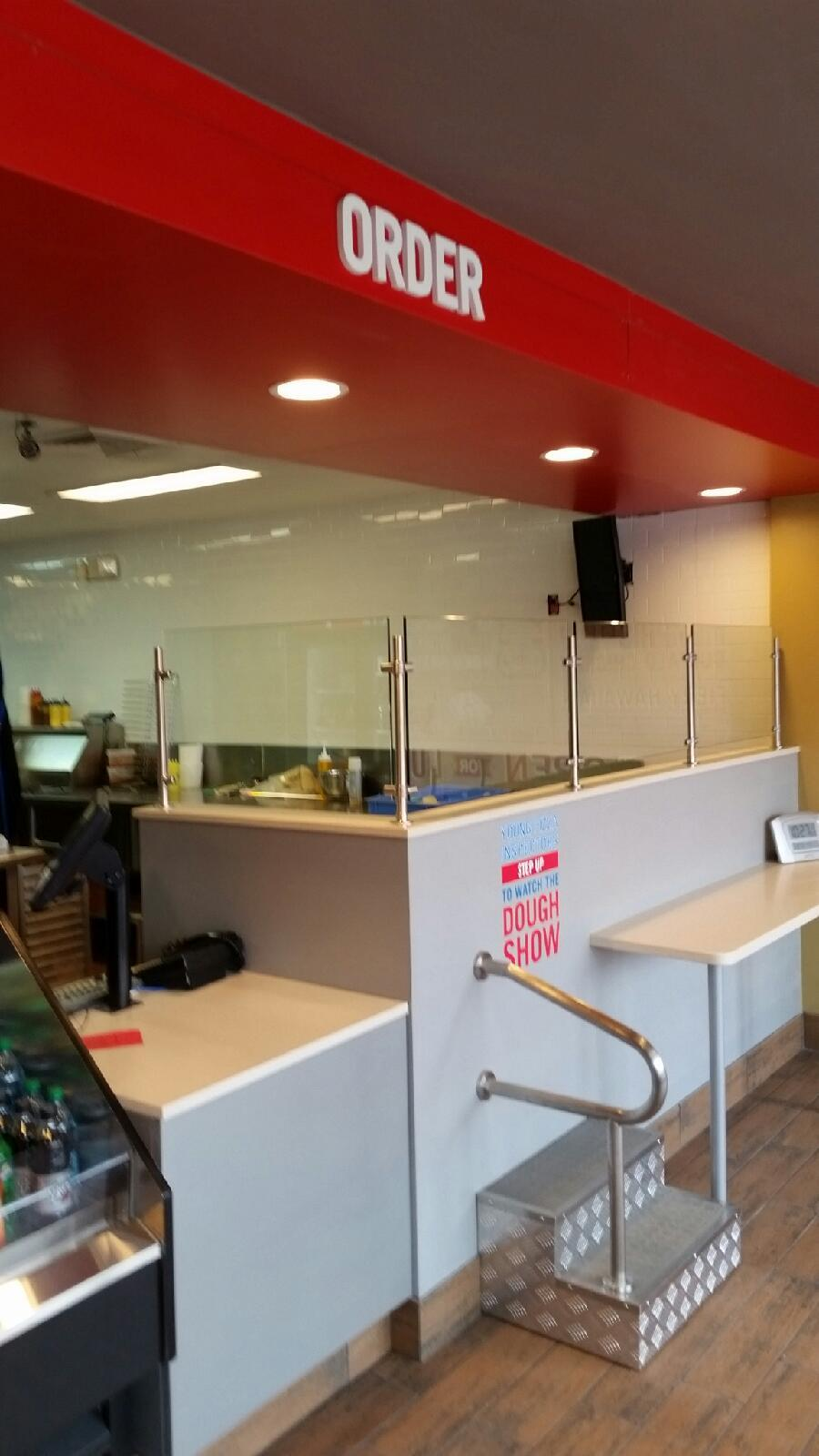 Sneeze Guard at Domino's