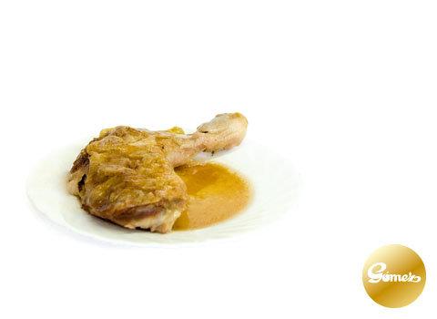 Muslo de pollo asado